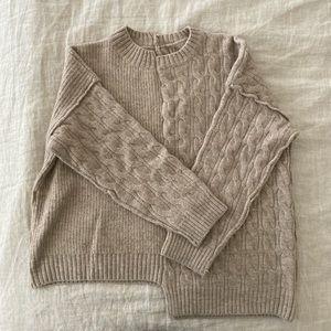 Asymmetrical Sweater - Oatmeal